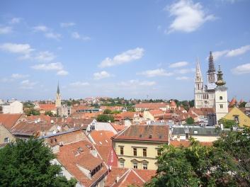 widok na Zagreb