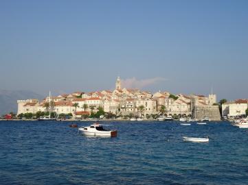 widok na wyspe Korčula