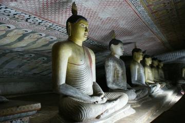 wnętrze świątyni Dambulla
