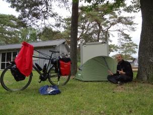 pierwsze nocowanie w namiocie