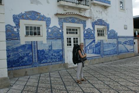 Aveiro - w tle dworzec