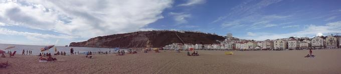 panorama: Nazaré - plaża