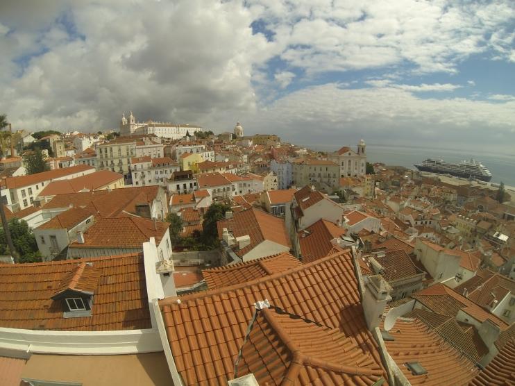 widok na Lizbonę z S. Luzia