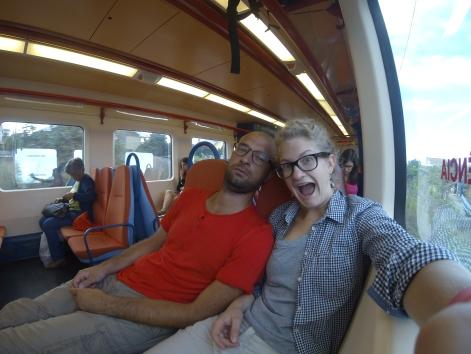 w pociągu do Aveiro