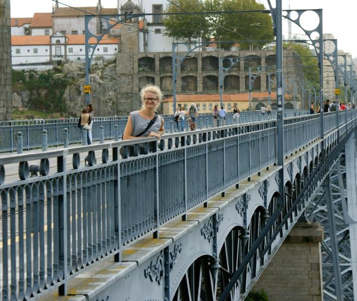 na moscie Ponte Dom Luís I