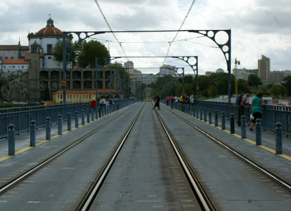 górna część mostu Ponte Dom Luís I
