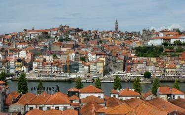 Widok na Ribeire z Vila Nova de Gaia