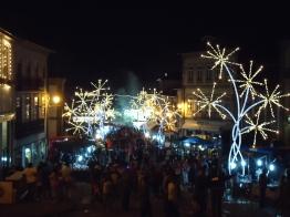oświetlone ulice w Ponte de Lima